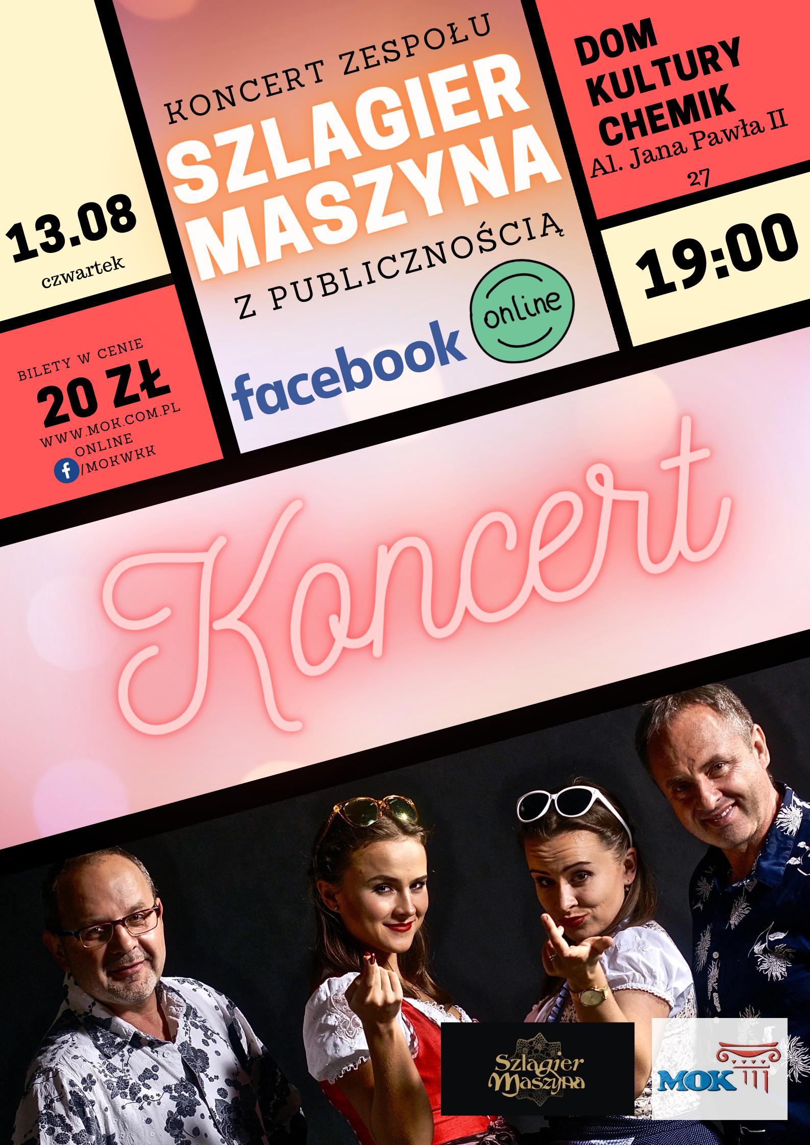 Koncert Szlagier Maszyna - z publicznością oraz online